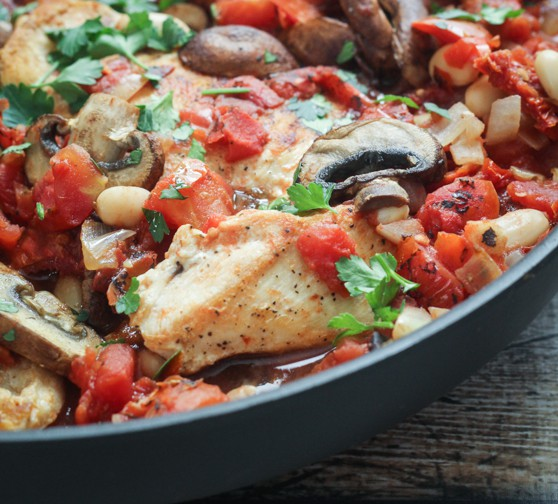 Tuscan-Chicken-Skillet-7